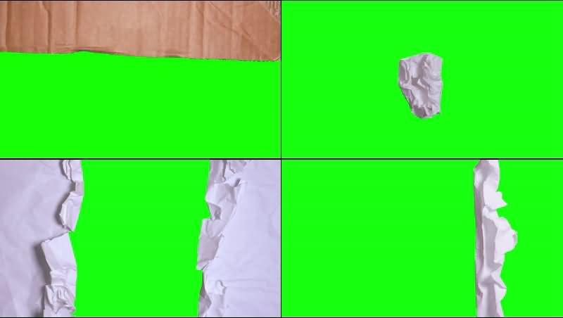绿幕视频素材撕纸