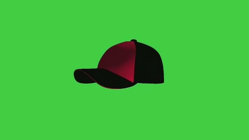 绿幕视频素材鸭舌帽