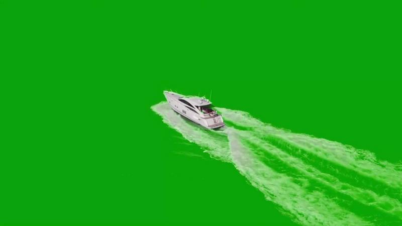 绿幕视频素材游艇