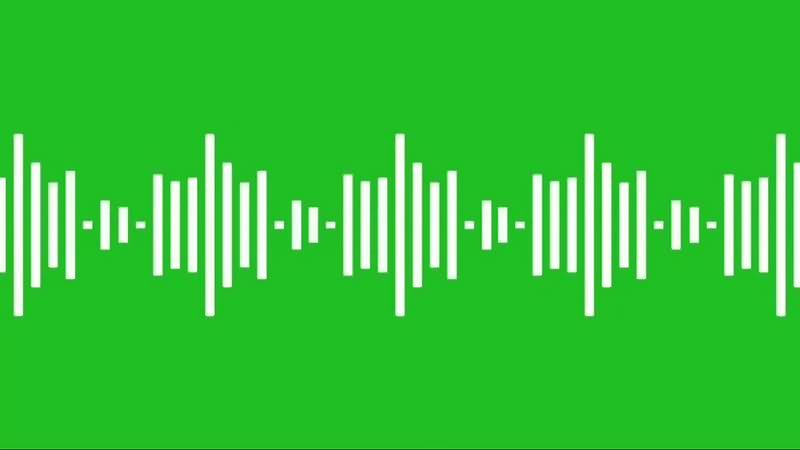 绿幕视频素材音波