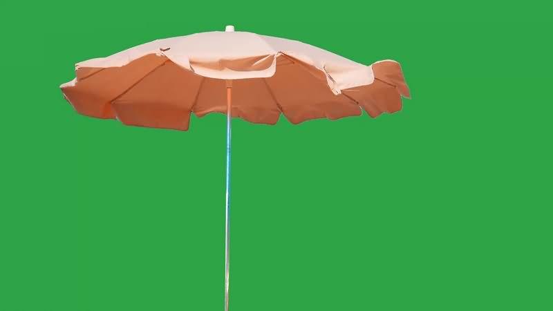 绿幕视频素材遮阳伞