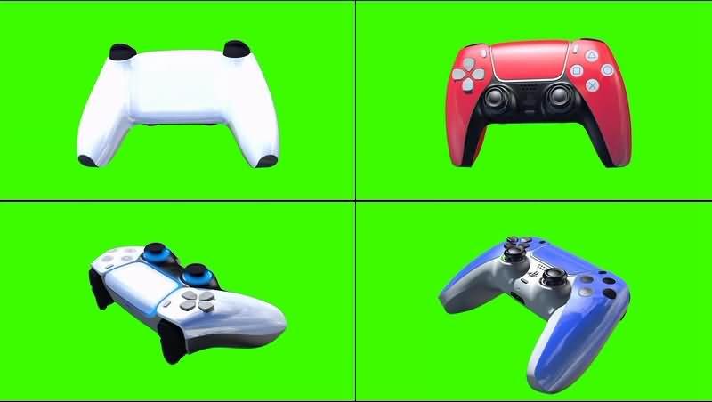 绿幕视频素材PS5游戏手柄