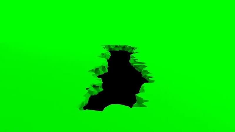 绿幕视频素材地陷