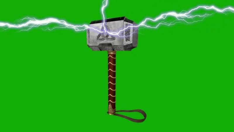 绿幕视频素材雷神之锤