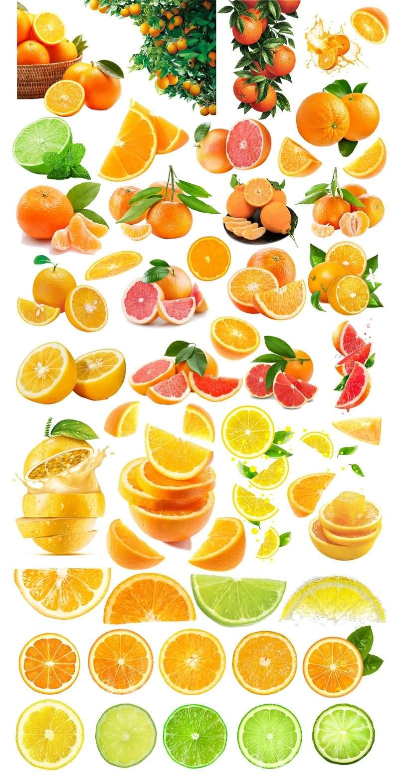橙子免抠分层PSD素材