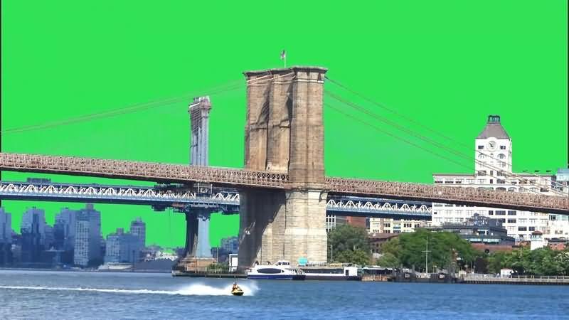 绿幕视频素材布鲁克林大桥