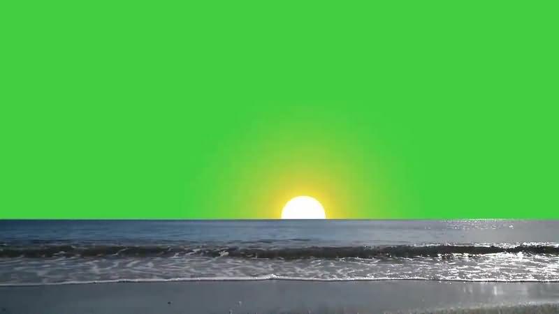 绿幕视频素材大海日出