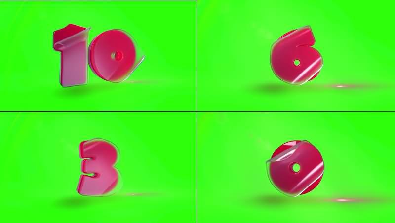 绿幕视频素材倒计时