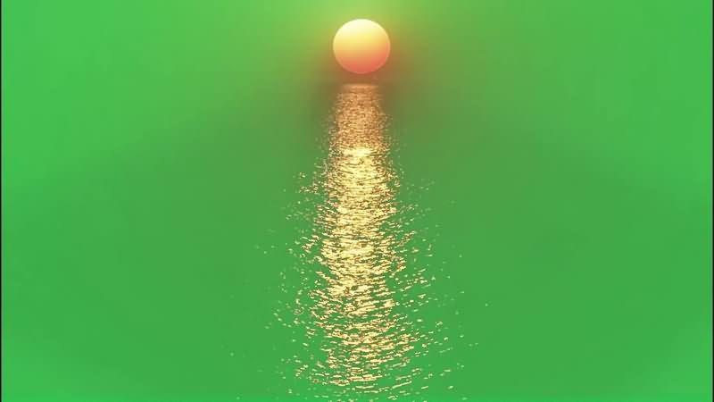 绿幕视频素材日落