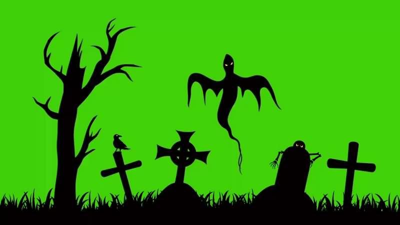 绿幕视频素材鬼魂