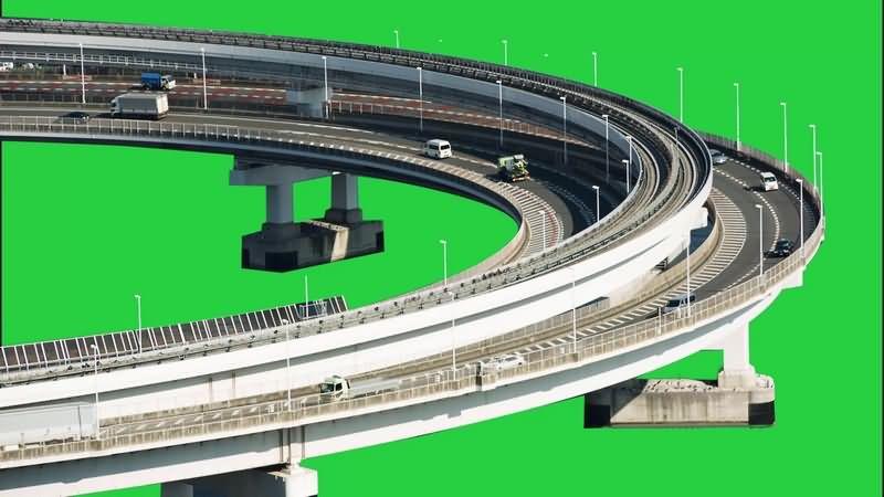 绿幕视频素材高速桥