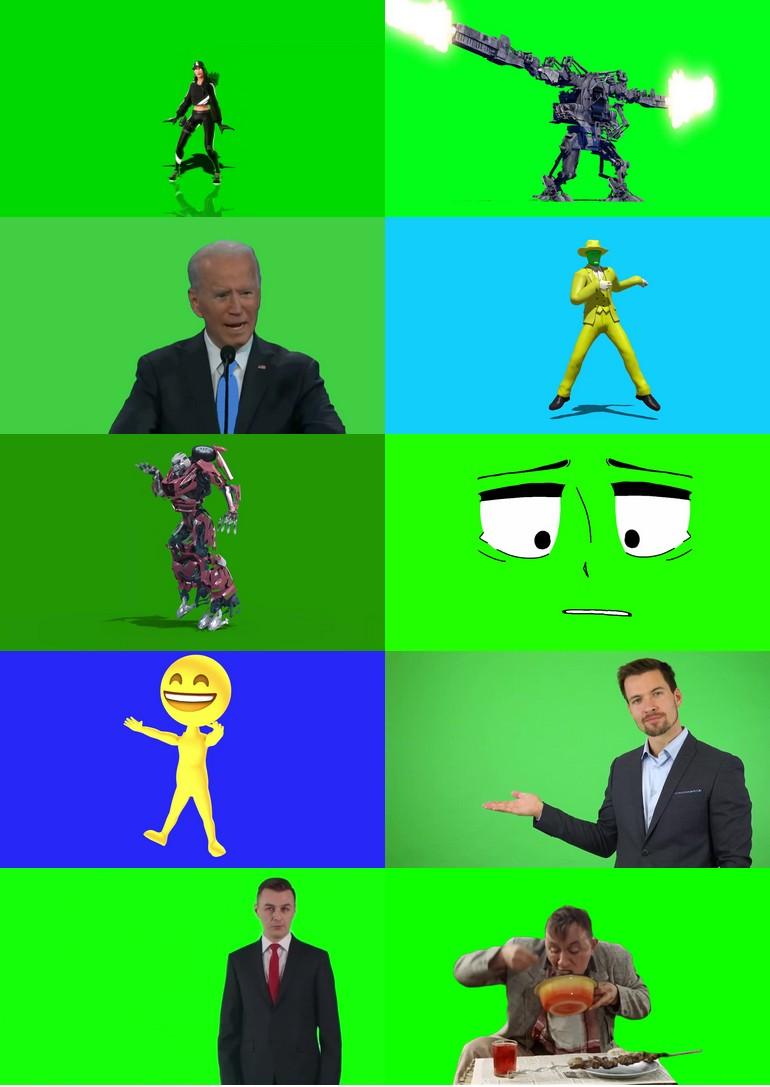 绿屏_绿布_绿幕人物|人像|真人|卡通人物|人群视频素材打包100部第八套