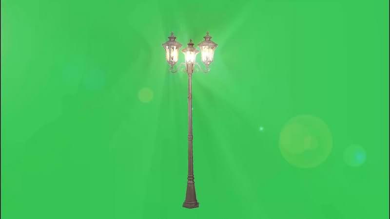 绿幕视频素材路灯