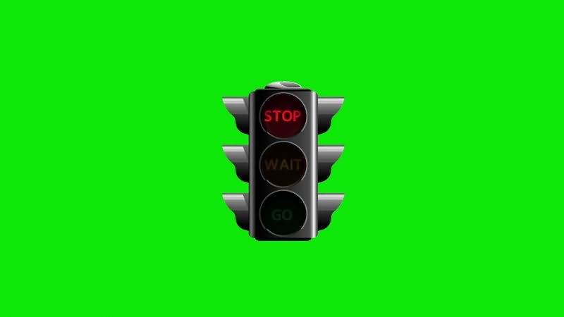 绿幕视频素材红绿灯