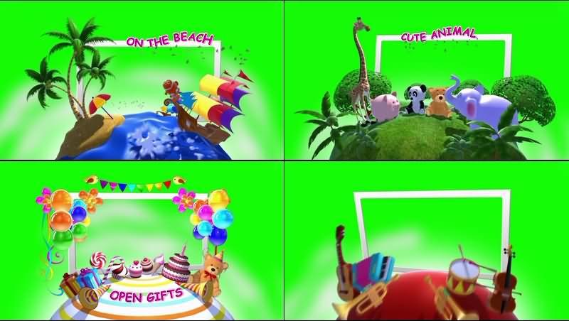 绿幕视频素材儿童小世界