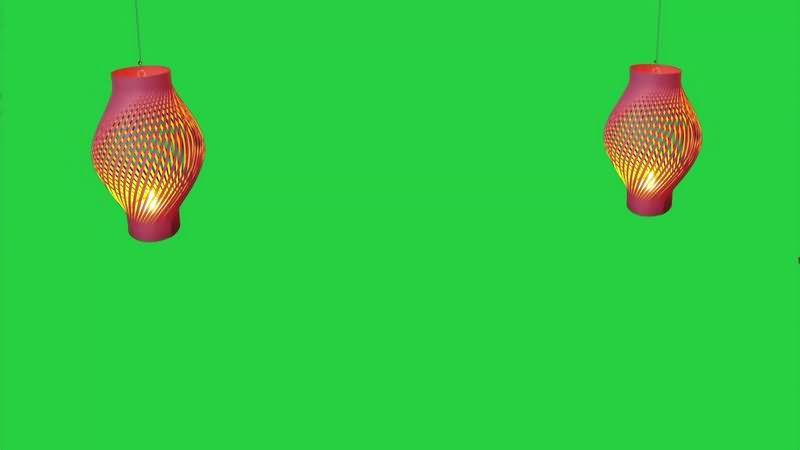 绿幕视频素材灯笼