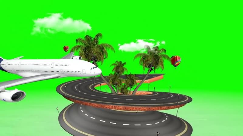 绿幕视频素材旅游岛