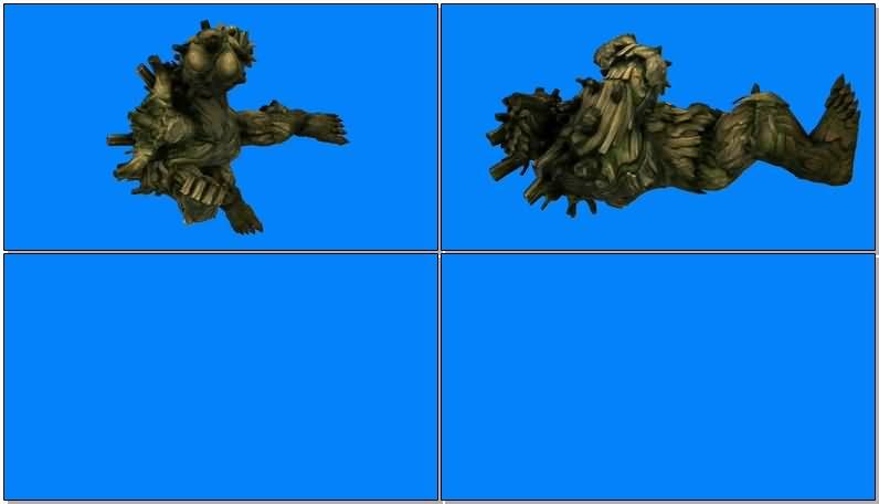 蓝屏抠像树人格鲁特视频素材