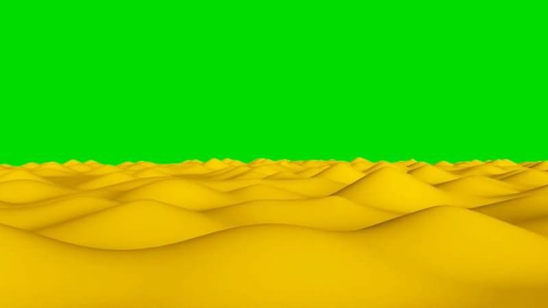 绿屏抠像沙漠穿越视角视频素材
