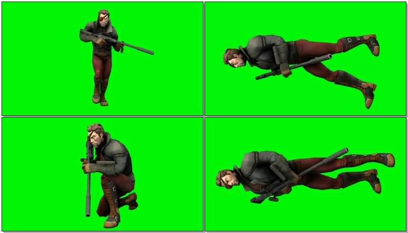 绿屏抠像DC人物死亡射手视频素材