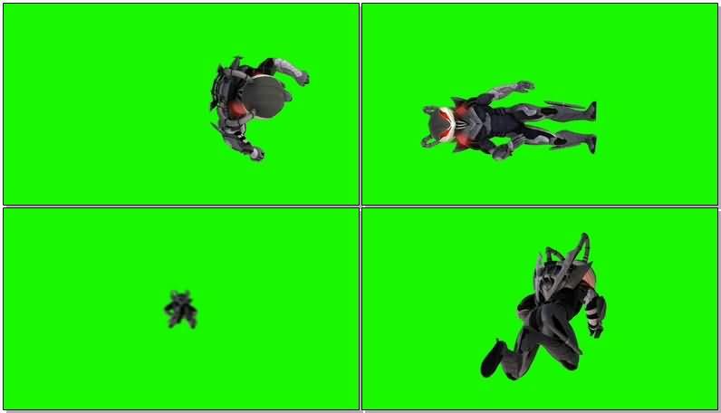 绿屏抠像DC人物黑蝠鲼视频素材