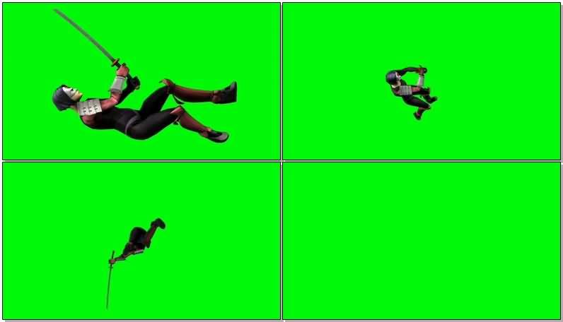 绿屏抠像DC人物武士刀视频素材