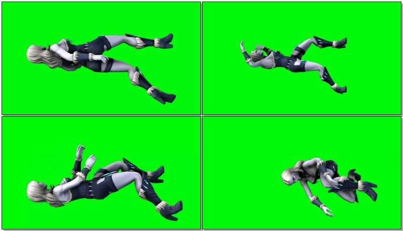 绿屏抠像DC人物冰霜杀手视频素材