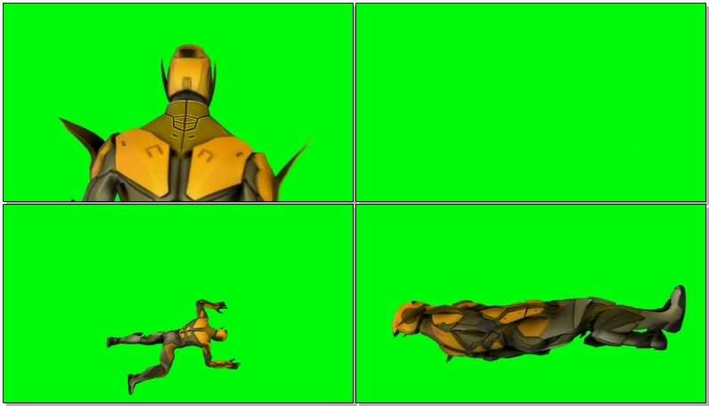 绿屏抠像DC人物逆闪电视频素材
