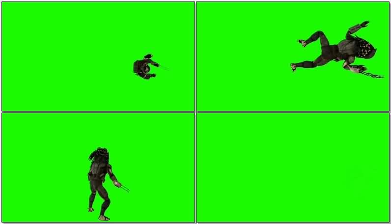 绿屏抠像铁血战士视频素材