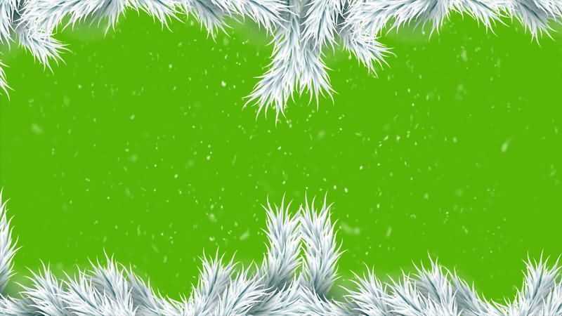 [4K]绿屏抠像白绒相框雪花视频素材
