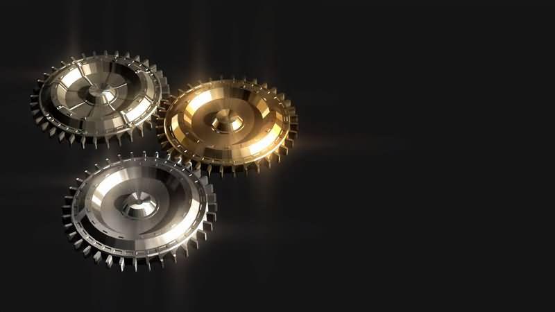 旋转的金属齿轮视频素材