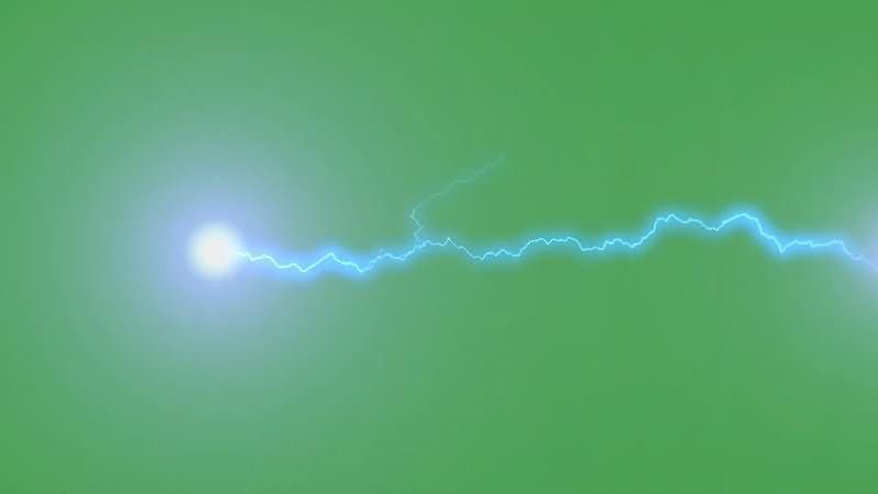 绿屏抠像闪电电力球视频素材