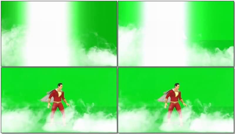 绿屏抠像超级英雄沙赞视频素材