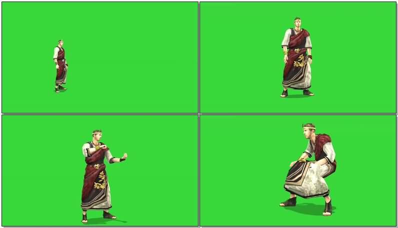 绿屏抠像古罗马人物视频素材