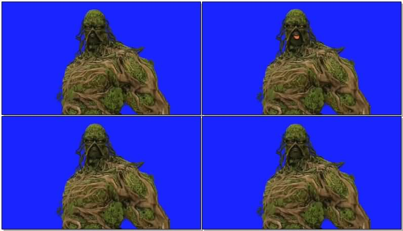 绿屏抠像树人怪物视频素材