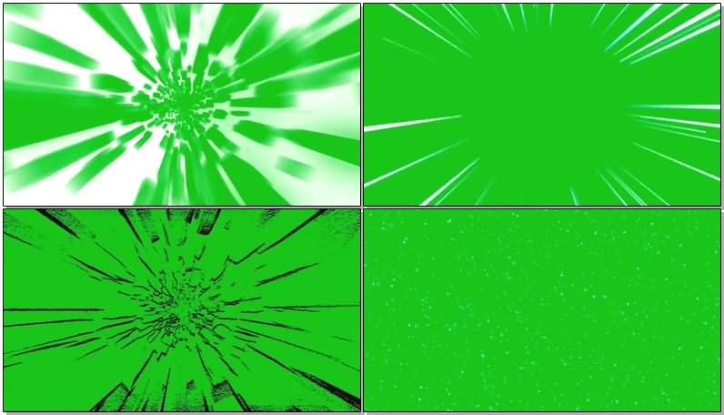 绿屏抠像各种隧道极速穿越效果视频素材