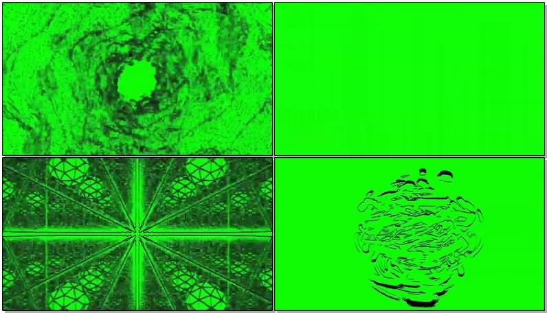 绿屏抠像漩涡隧道穿梭视频素材