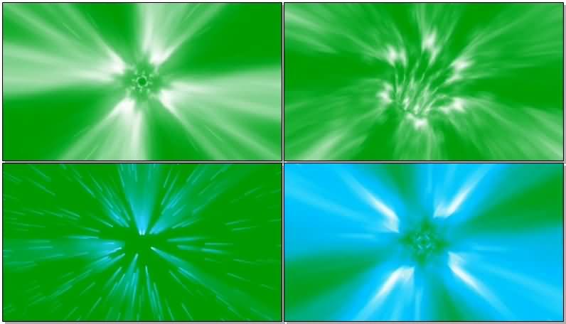 绿屏抠像光速穿越视频素材