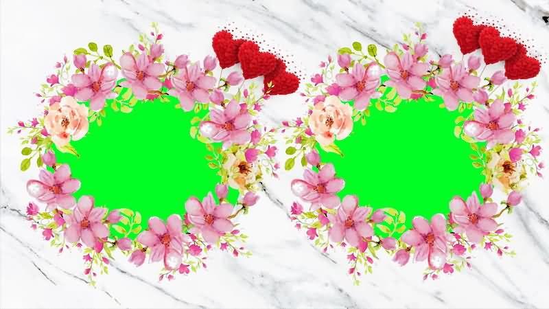 [4K]绿屏抠像彩色花环视频素材