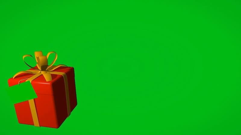 绿屏抠像礼物盒贺卡视频素材