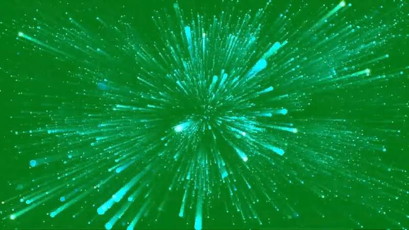 绿屏抠像粒子空间穿越视频素材