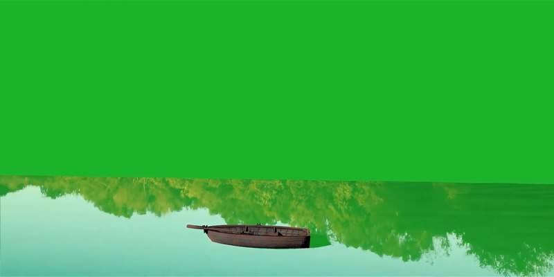 绿幕视频素材木船