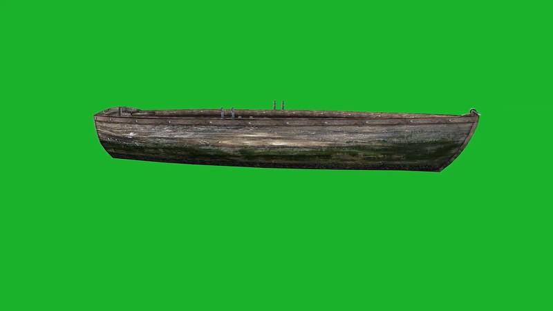 绿幕视频素材木舟