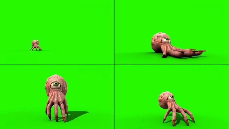 绿幕视频素材手指怪物