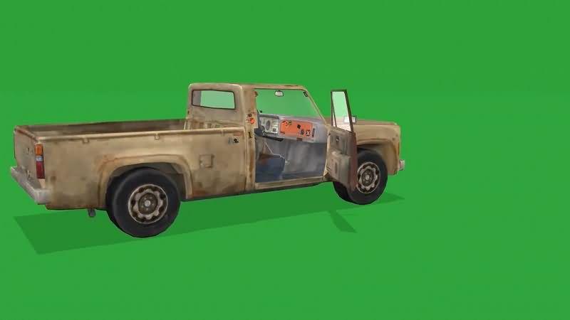 绿幕视频素材小货车