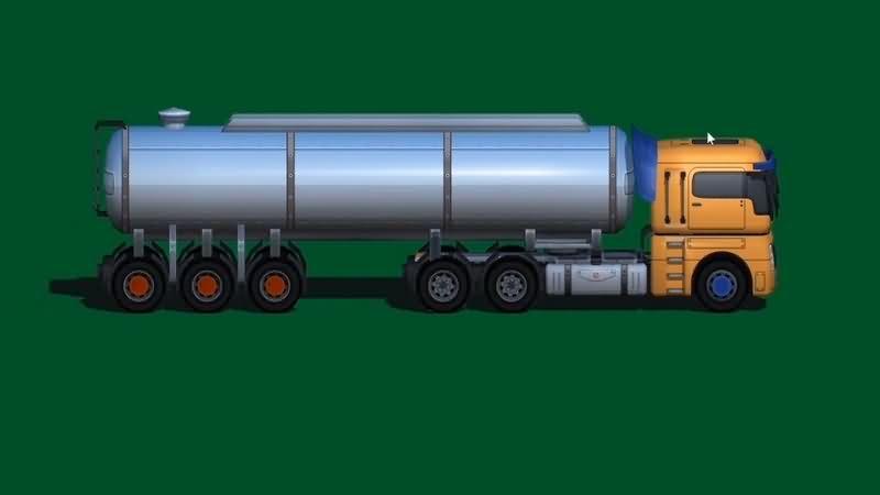 绿幕视频素材油罐车