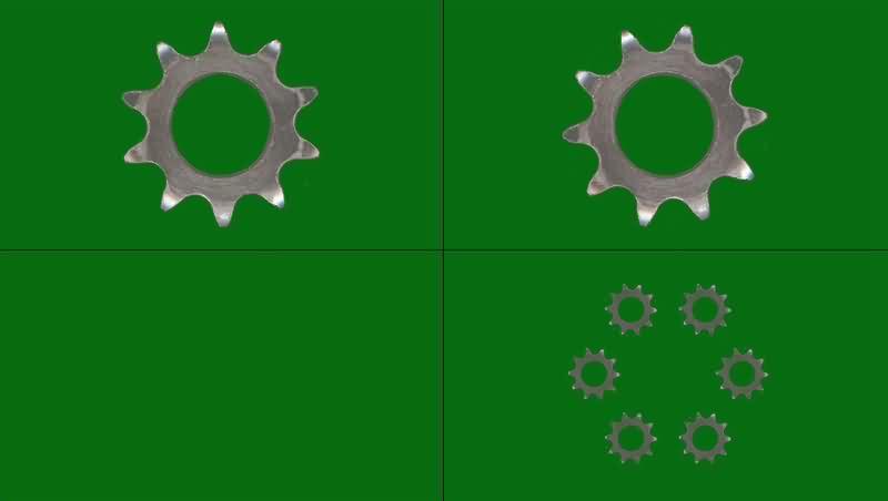 绿幕视频素材齿轮