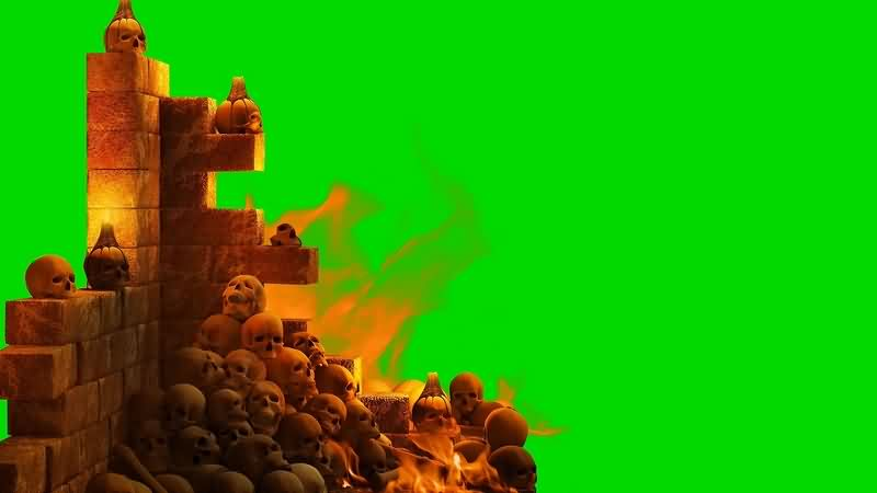 绿幕视频素材地狱火
