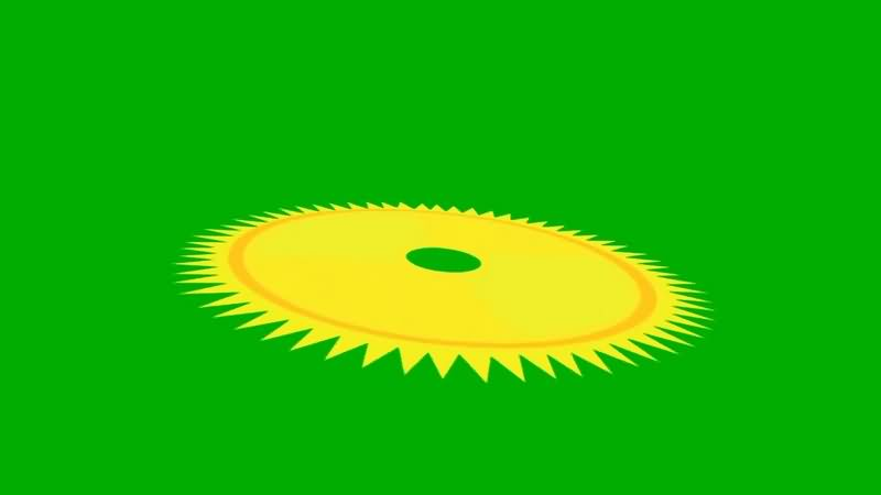 绿幕视频素材齿轮转盘