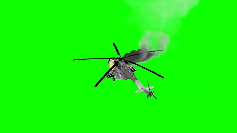 绿幕视频素材飞机坠毁